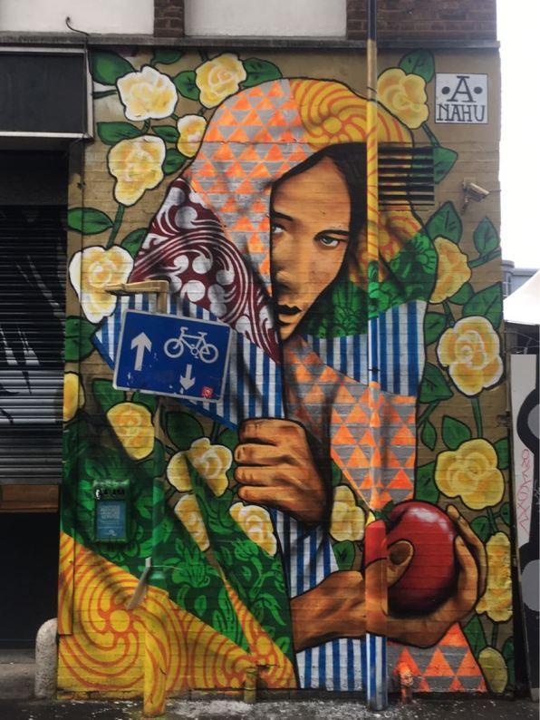 Ananda Nahu, Street art, artist, Rivington Street, London