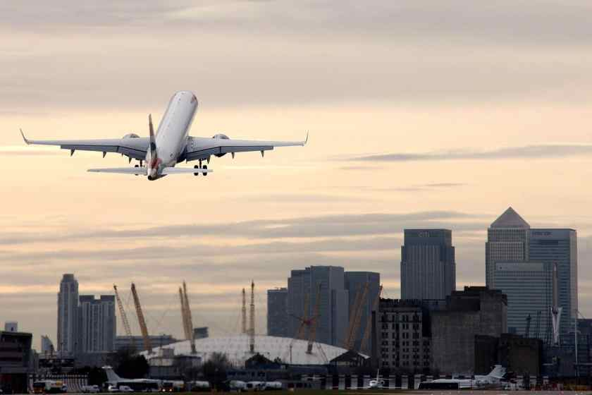 BA CityFlyer Embraer at London City Airport