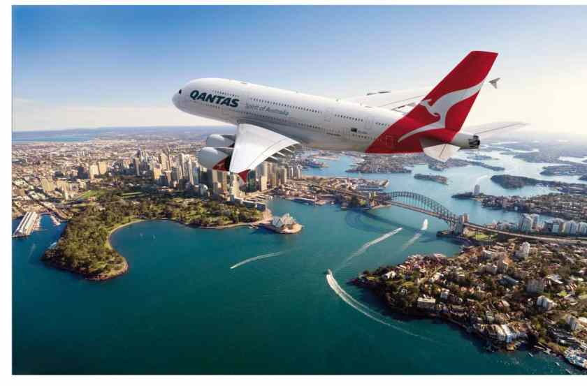 Qantas Airbus A380 Sydney Harbour (Image Credit: Qantas Airways)