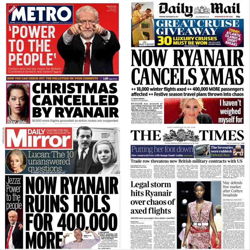 Ryanair Press Coverage