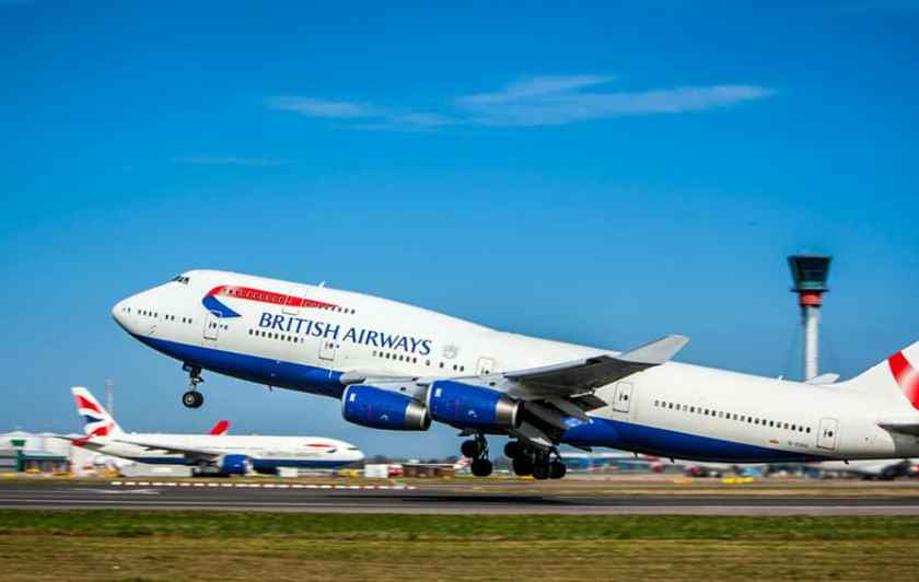 British Airways Boeing 747 Heathrow