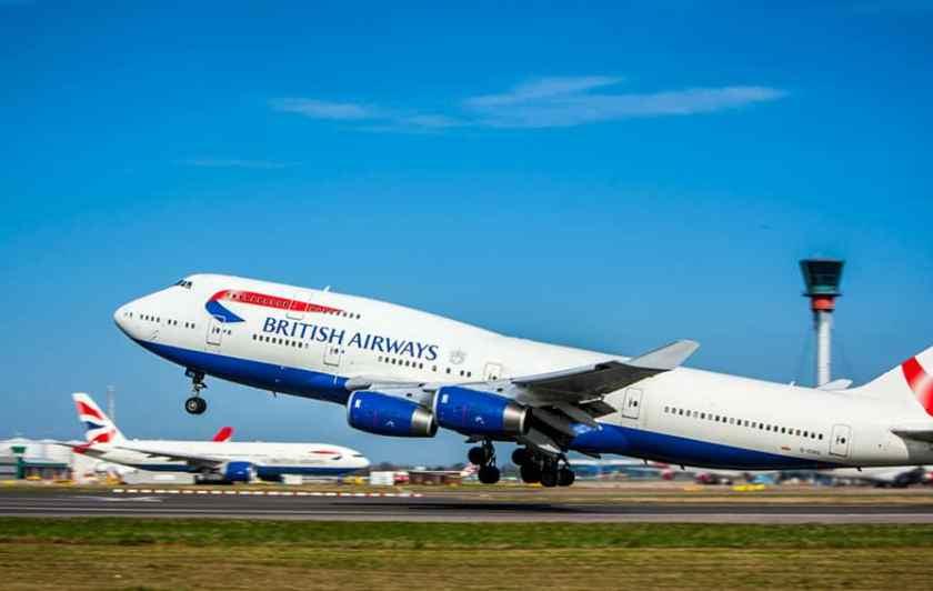 British Airways Boeing 747 Heathrow