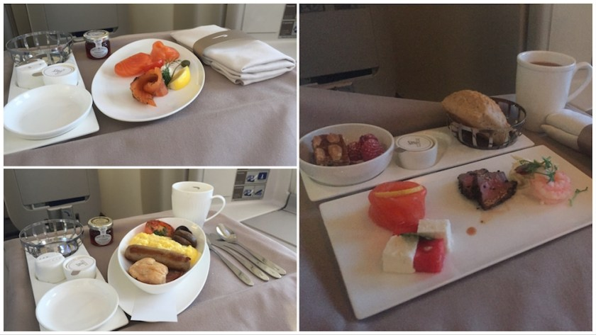 BA Club World Catering - New York JFK - London Heathrow Day flight