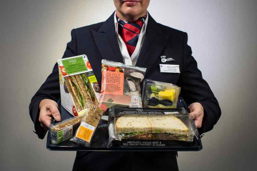 "British Airways partnership with Marks & Spencer ""M&S On Board"""