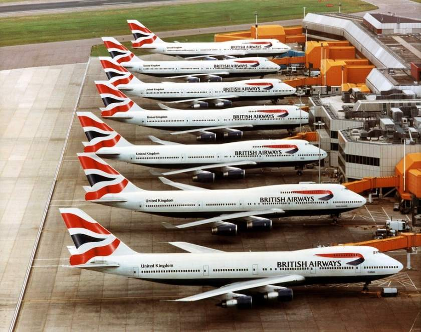 British Airways Boeing 747's at London Heathrow