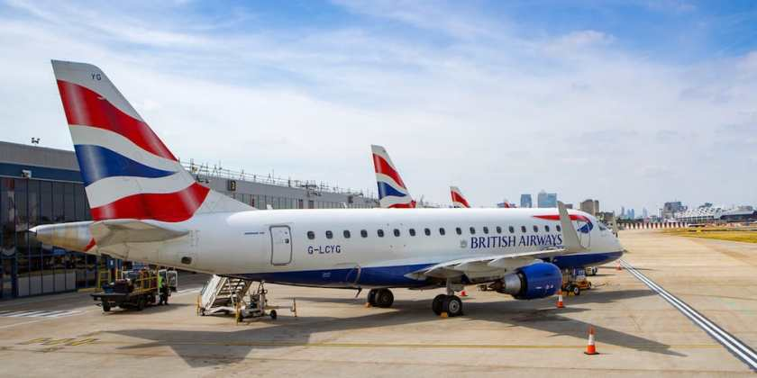 BA Embraer E170 London City Airport