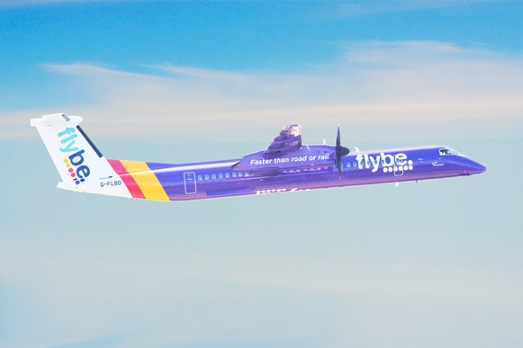 Flybe Bombardier Q400 aircraft