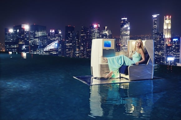Gwyneth Paltrow at the Marina Bay Sands hotel Singapore