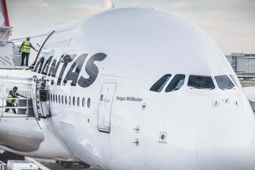 Qantas Airbus A380 at London Heathrow Terminal 3 (Image Credit: Heathrow)