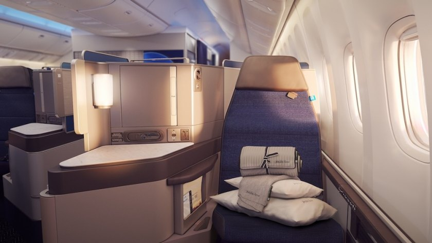 United Polaris Business Class Cabin (Image Credit: United)
