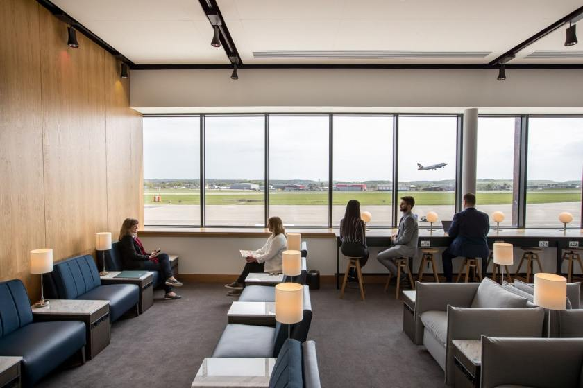 British Airways lounge at Aberdeen International Airport (Image Credit: Nick Morrish/British Airways)