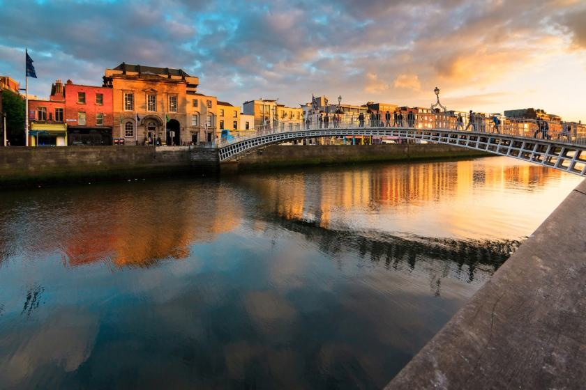 Sunset in Dublin, Ireland (Image Credit: British Airways)