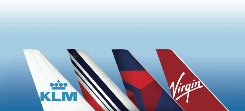 KLM, Air France, Delta, Virgin Atlantic Tailfins (Image Credit: Delta Air Lines)