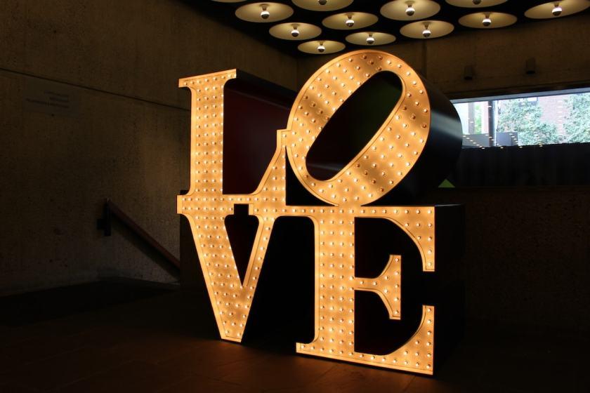"""Robert Indiana """"LOVE"""", Whitney Museum of American Art, New York, 2013"""