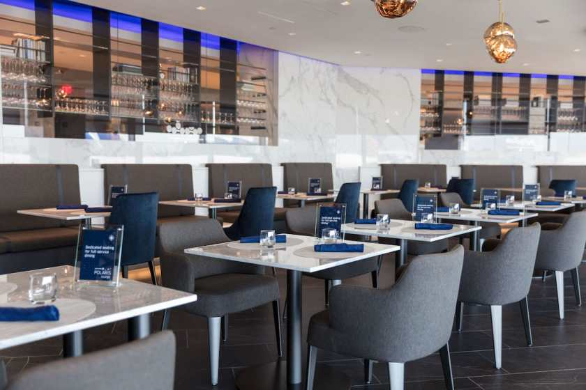 United Polaris Lounge Dining Area Newark Liberty International Airport (Image Credit: United Airlines)
