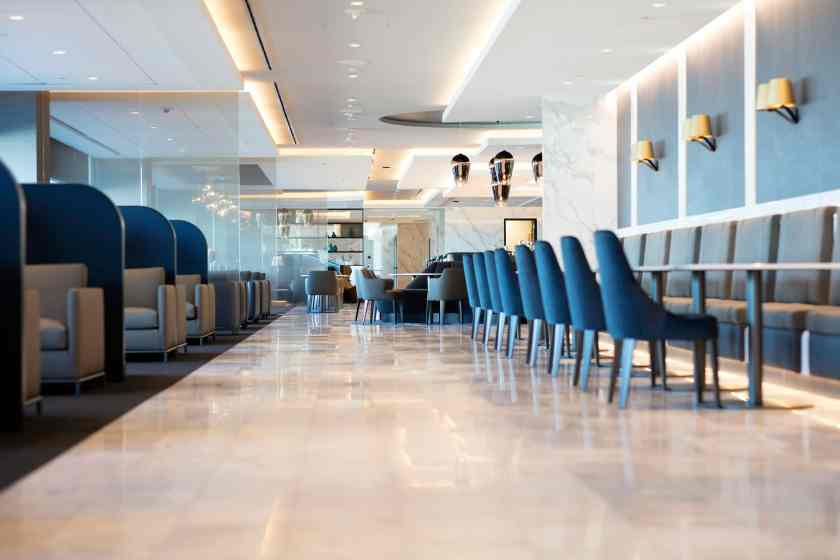 Second Floor of United Polaris lounge at San Francisco International Airport (Image Credit: United Airlines)