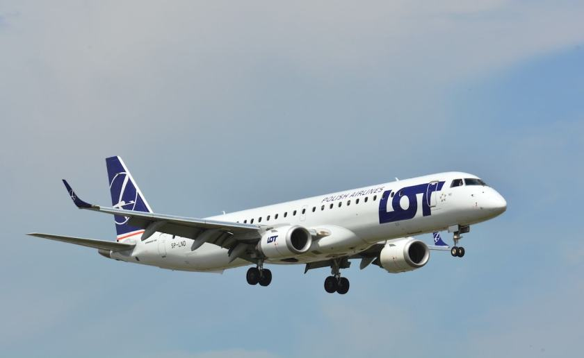 LOT Polish Airlines Embraer E195 aircraft