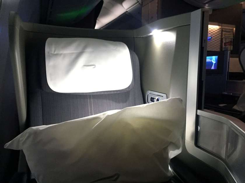 Seat 7A, Club World, BA Boeing 787-9 Dreamliner
