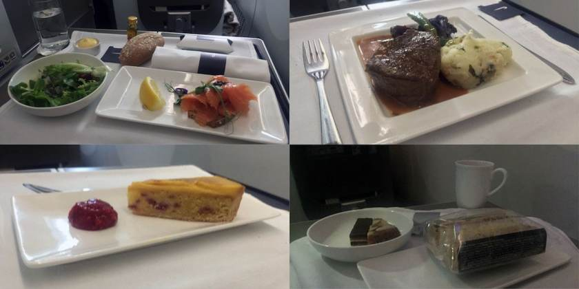 BA Club World Catering BA95 London Heathrow - Montreal June 2017 (Image Credit: London Air Travel)