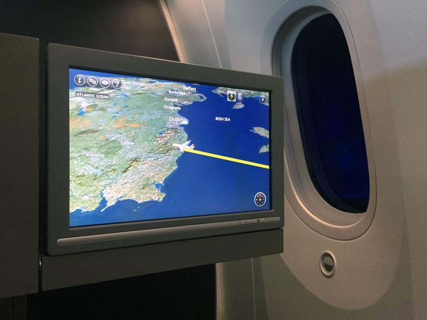 BA Club World IFE Screen, Boeing 787-9 Dreamliner