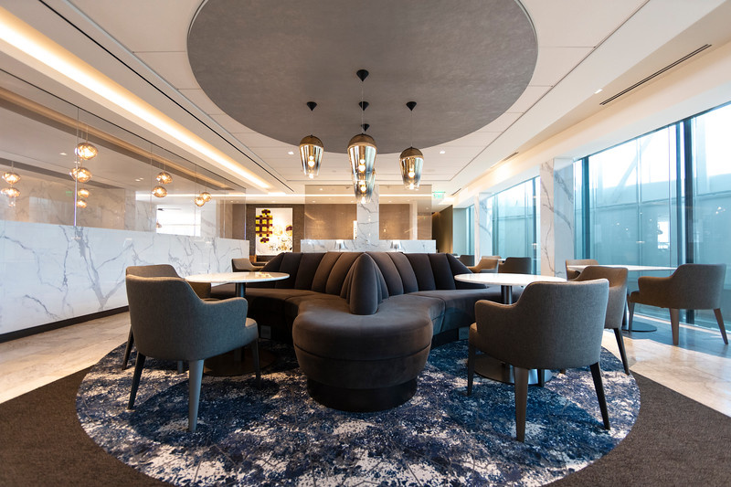 United Polaris lounge at Houston