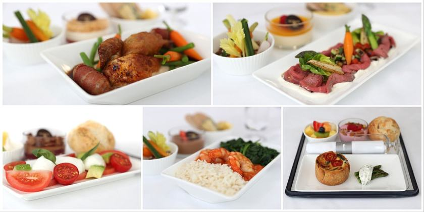 A selection of BA Club Europe meals - September 2018