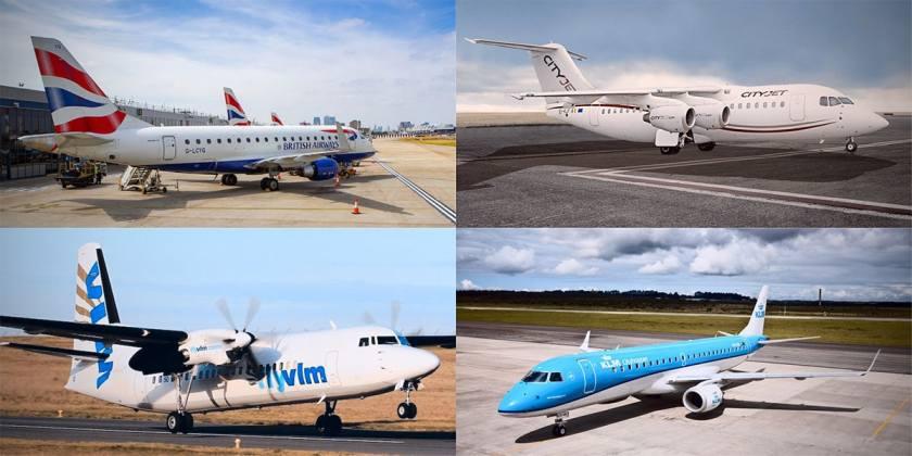 BA CityFlyer, CitJet, FlyVLM, KLM
