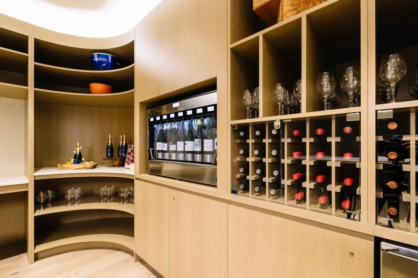 British Airways First Lounge Wine Room New York JFK Terminal 7
