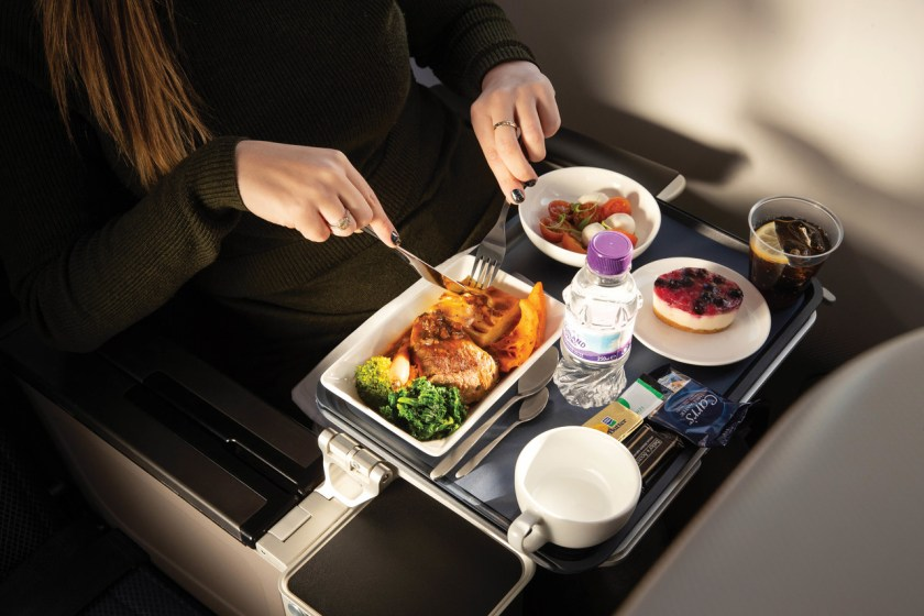 British Airways World Traveller Plus Meal