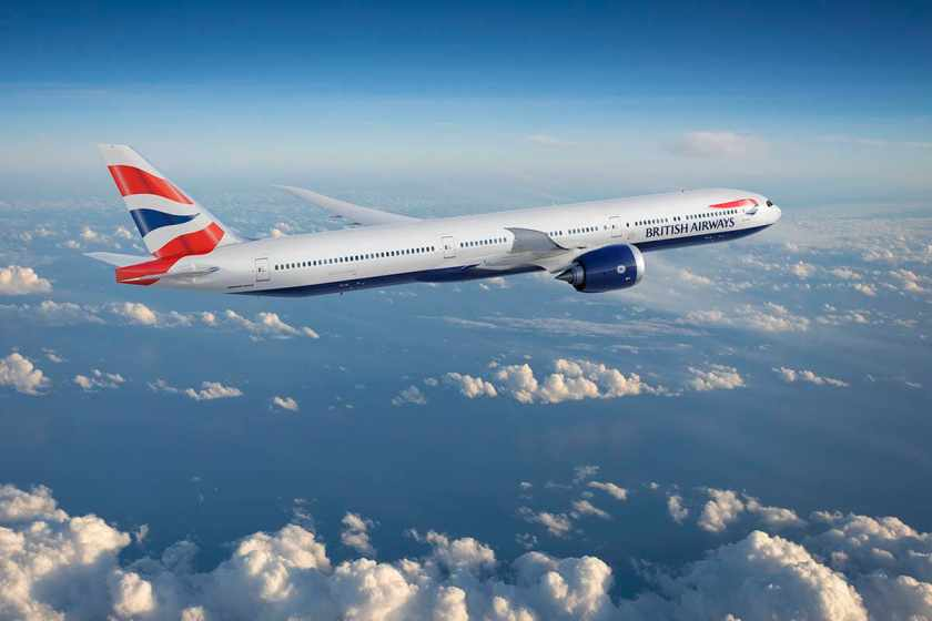 Render of British Airways Boeing 777-9 aircraft