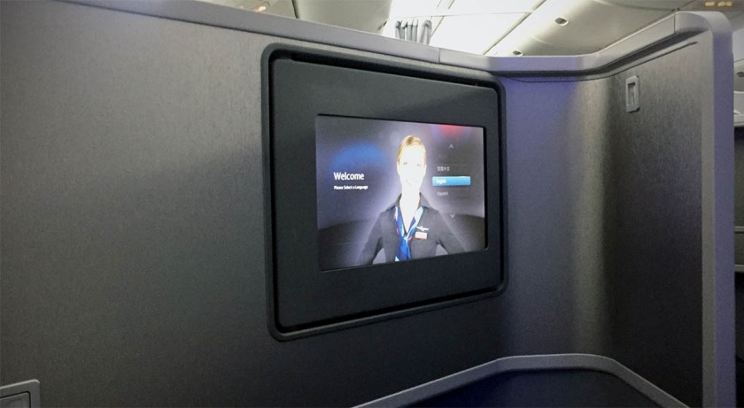 American Airlines Boeing 777-200 Business Class IFE Screen
