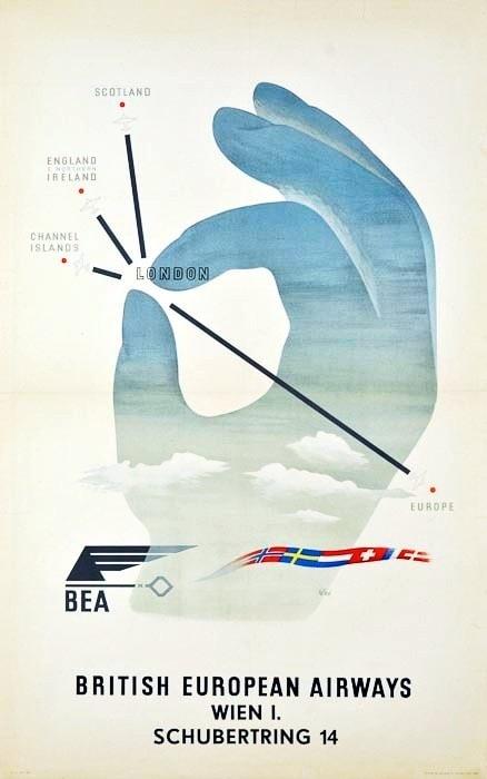 British European Airways Poster