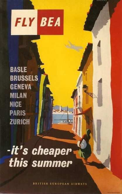 British European Airways Poster