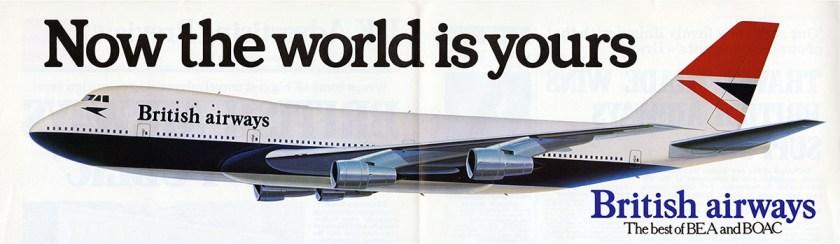 British Airways post BEA & BOAC merger advertisement