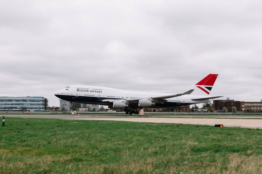British Airways Boeing 747, Negus Livery, London Heathrow