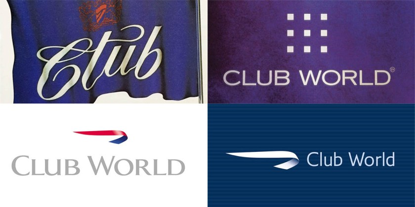 British Airways Club World logos from the late 1970s