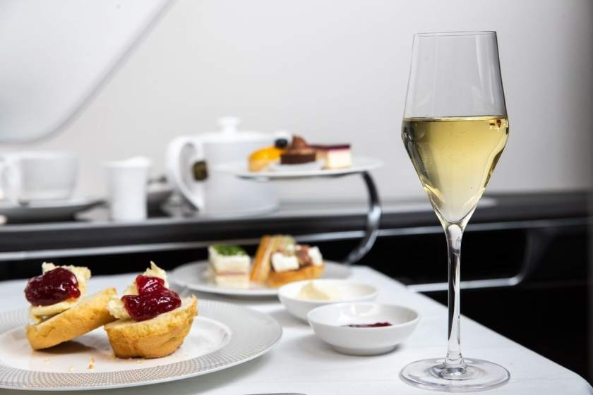 British Airways First Class Dining