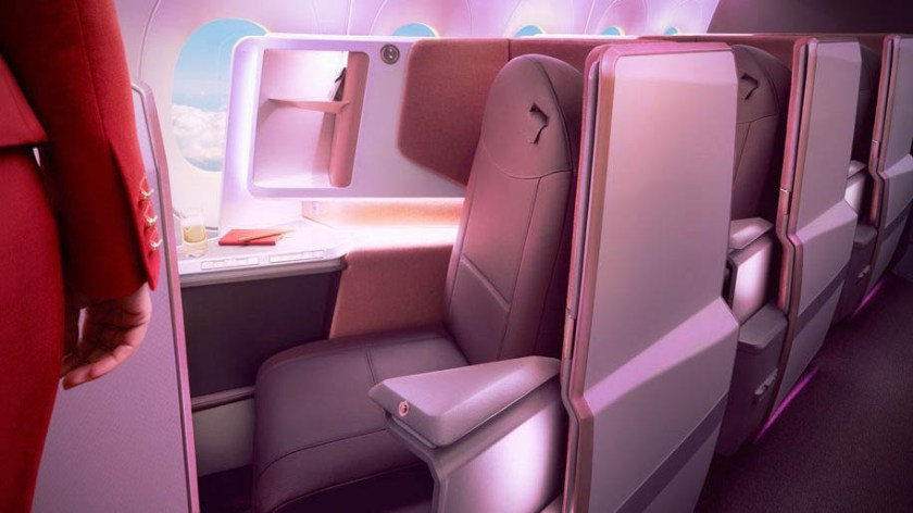 Virgin Atlantic Upper Class Airbus A350 aircraft