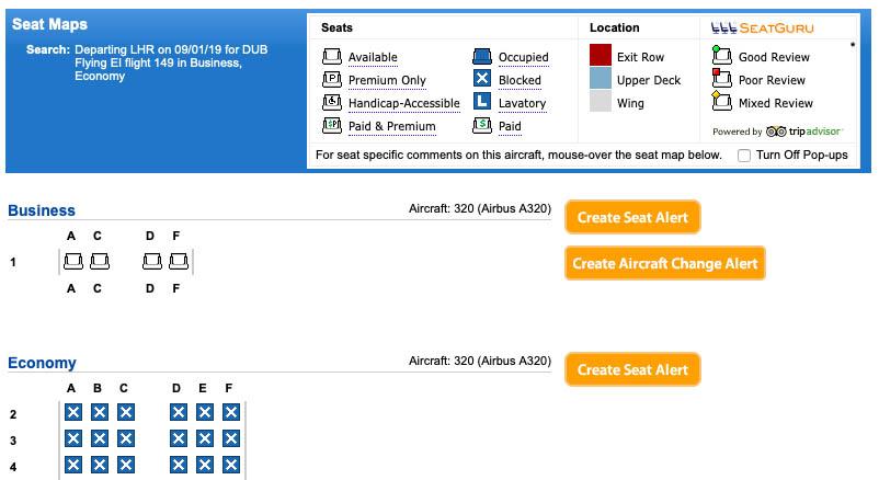 Aer Lingus Aer Space on ExpertFlyer