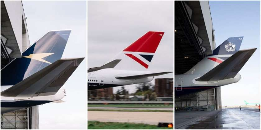 British Airways Boeing 747 Centenary Tailfins