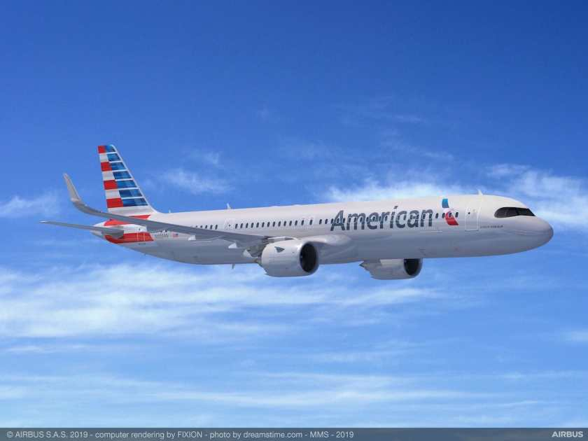 Airbus A321XLR American Airlines Livery