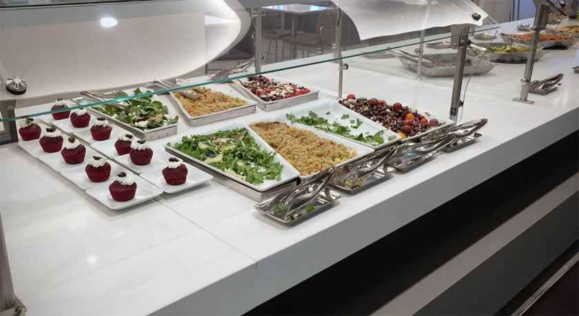American Airlines Flagship Lounge, Miami, Buffet