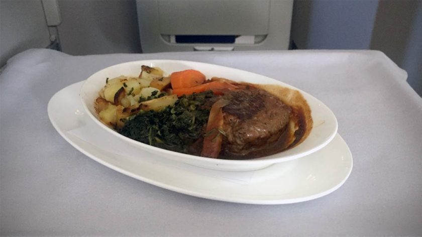 British Airways Club World Main Course London Heathrow - Miami