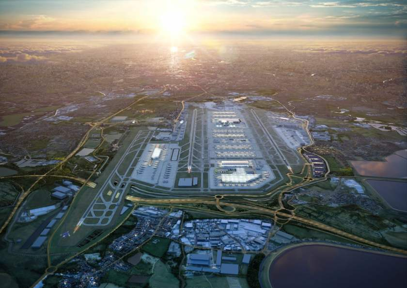 CGI Image of Heathrow Airport Masterplan 2050
