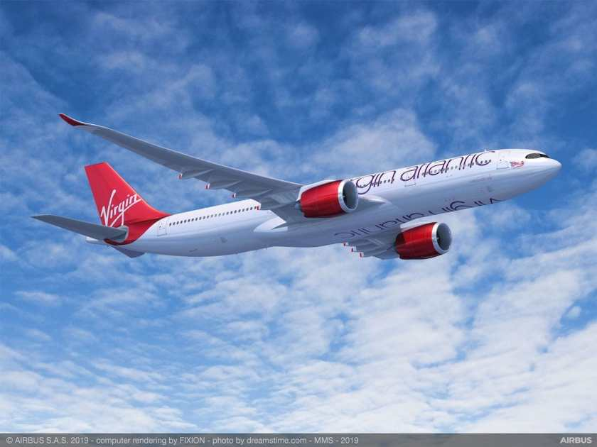 Virgin Atlantic Airbus A330neo aircraft render