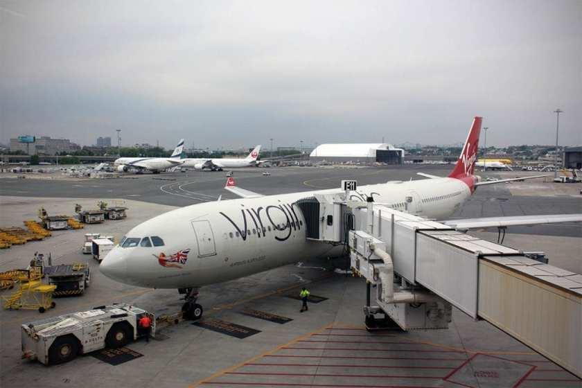 Virgin Atlantic Airbus A330-300 G-VKSS, Boston Logan Airport