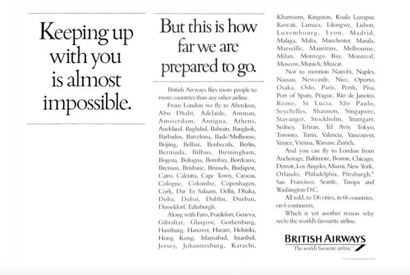 """Destinations"" 1985 Advertising Campaign"