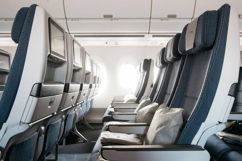 British Airways Airbus A350-1000 World Traveller Cabin