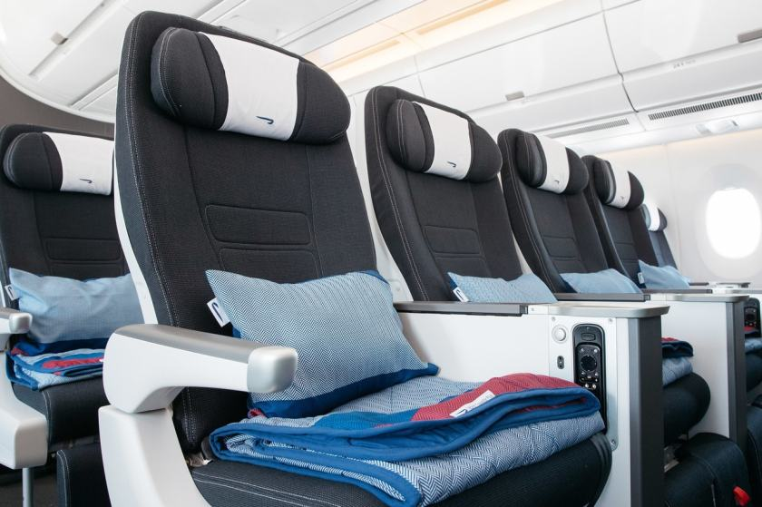 British Airways Airbus A350-1000 World Traveller Plus Cabin
