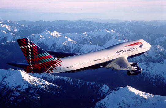 British Airways Boeing 747 Aircraft, Peter MacDonald Tartan World Tailfin